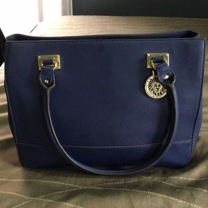 Anne Klein blue satchel